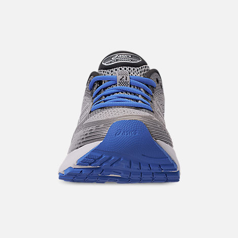Front view of Women's Asics GEL-Nimbus 21 Running Shoes in Mid Grey/Dark Grey