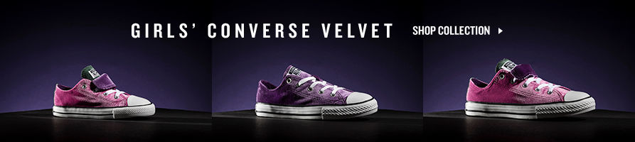 Girls' Converse Velvet. Shop Now.