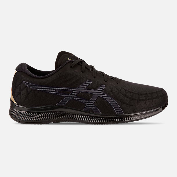 Right view of Men's Asics GEL-Quantum Infinity Running Shoes in Black/Black