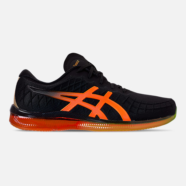 Right view of Men's Asics GEL-Quantum Infinity Running Shoes in Black/Shocking Orange