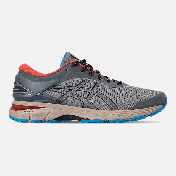 Right view of Men's Asics GEL-Kayano 25 Running Shoes in Stone Grey/Black