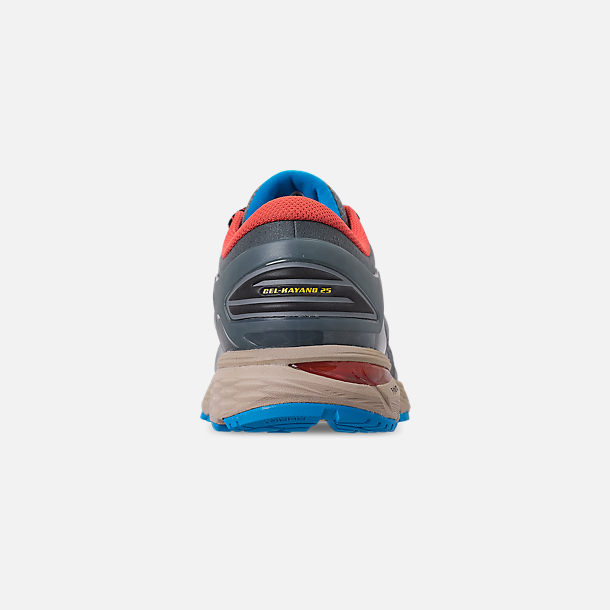 Back view of Men's Asics GEL-Kayano 25 Running Shoes in Stone Grey/Black
