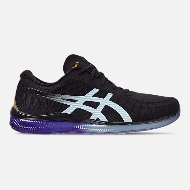 Right view of Women's Asics GEL-Quantum Infinity Running Shoes in Black/Icy Morning