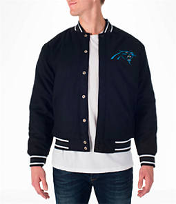 Men's JH Design Carolina Panthers NFL Reversible Wool Jacket