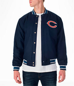 Men's JH Design Chicago Bears NFL Reversible Wool Jacket