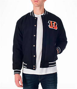 Men's JH Design Cincinnati Bengals NFL Reversible Wool Jacket