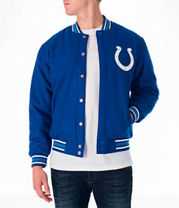 Men's JH Design Indianapolis Colts NFL Reversible Wool Jacket