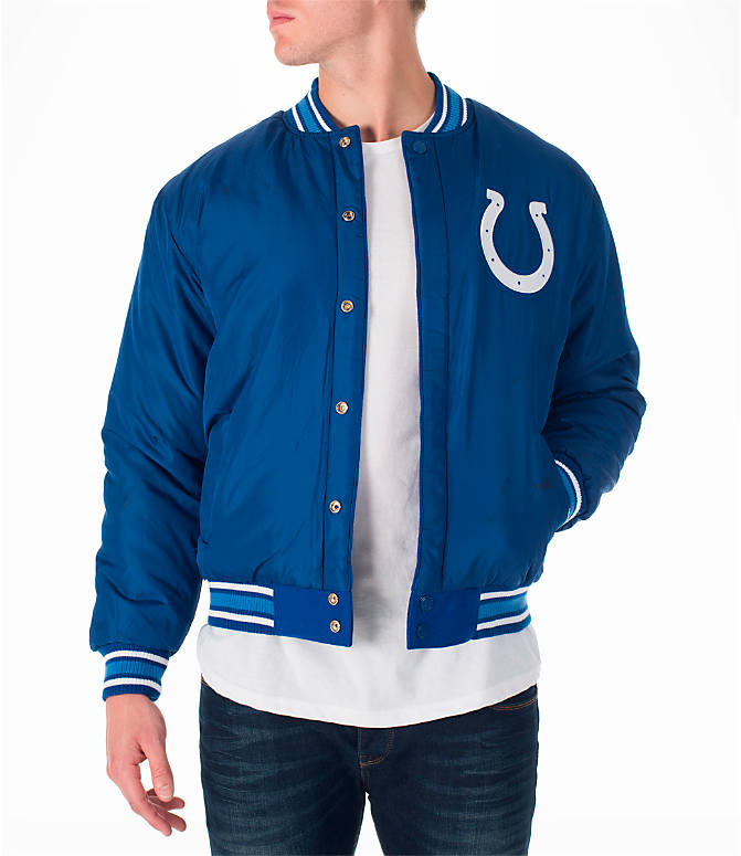 Product 3 view of Men's JH Design Indianapolis Colts NFL Reversible Wool Jacket in Royal