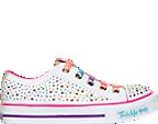 Girls' Preschool Skechers Twinkle Toes: Shuffles - Glitter Ombre Casual Shoes