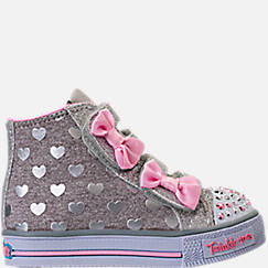Girls' Toddler Skechers Twinkle Toes: Shuffles - Doodle Days Light-Up Casual Shoes