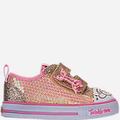 Girls' Toddler Skechers Twinkle Toes: Shuffles Itsy Bitsy Light-Up Casual Sneakers