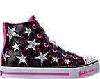 Girls' Preschool Skechers Twinkle Toes: Shuffles - Rockin' Stars Light-Up Casual Shoes