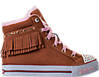 Girls' Preschool Skechers Twinkle Toes: Shuffles - Fringe Fabulous Casual Shoes