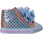 Girls' Toddler Skechers Twinkle Toes: Shuffles - Flower Fun Light-Up Casual Shoes