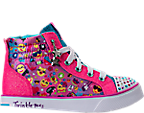 Girls' Preschool Skechers Twinkle Breeze 2.0 - Emoji Magic Light-Up High Top Casual Shoes