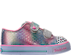 Girls' Toddler Skechers Twinkle Toes: Shuffles - Ms. Mermaid Light-Up Casual Shoes