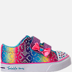 Girls' Preschool Skechers Twinkle Toes: Twinkle Breeze 2.0 - Colorful Crochets Light-Up Casual Shoes
