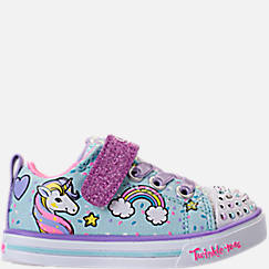 Girls' Toddler Skechers Twinkle Toes: Shuffles - Sparkle Lite Light-up Hook-and-Loop Casual Shoes