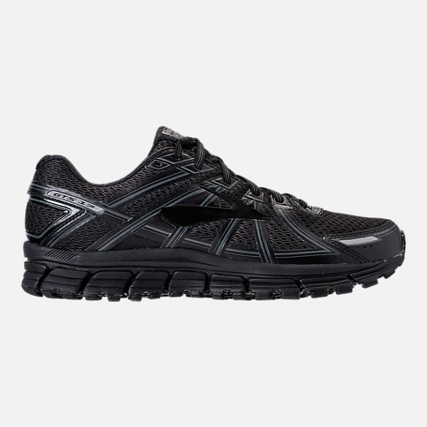 Right view of Men's Brooks Adrenaline GTS 17 Running Shoes in Black/Black/Anthracite