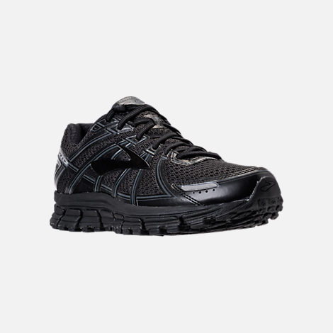 Three Quarter view of Men's Brooks Adrenaline GTS 17 Running Shoes in Black/Black/Anthracite