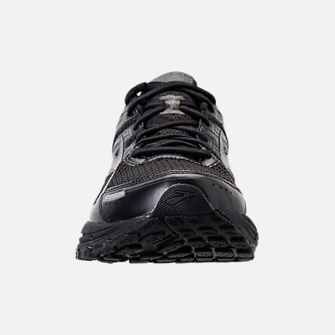 Front view of Men's Brooks Adrenaline GTS 17 Running Shoes in Black/Black/Anthracite