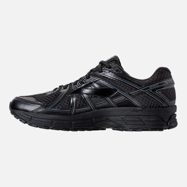Left view of Men's Brooks Adrenaline GTS 17 Running Shoes in Black/Black/Anthracite