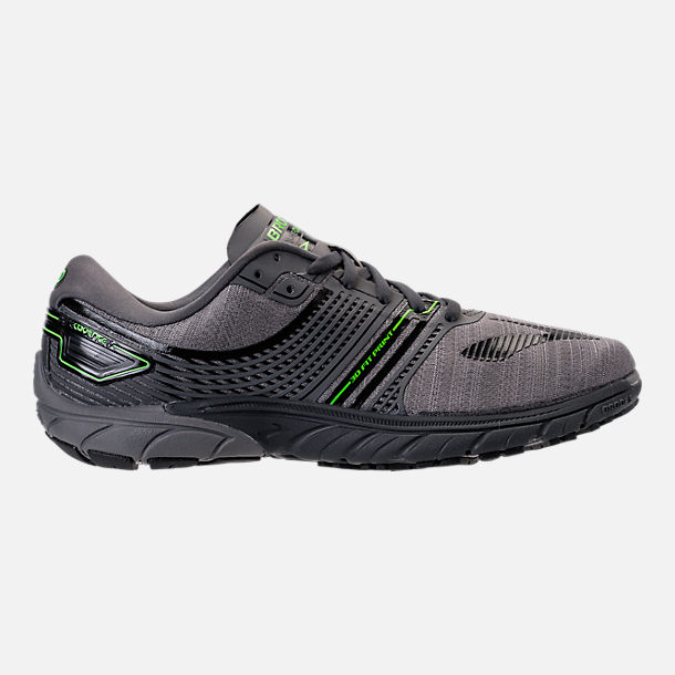 Right view of Men's Brooks Purecadence 6 Running Shoes in Castle Rock/Black/Green Flash