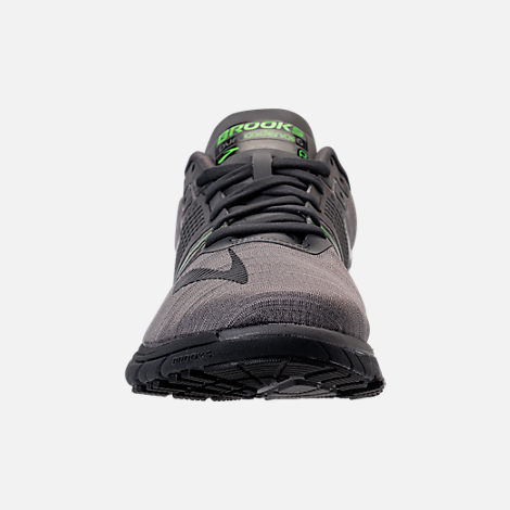 Front view of Men's Brooks Purecadence 6 Running Shoes in Castle Rock/Black/Green Flash