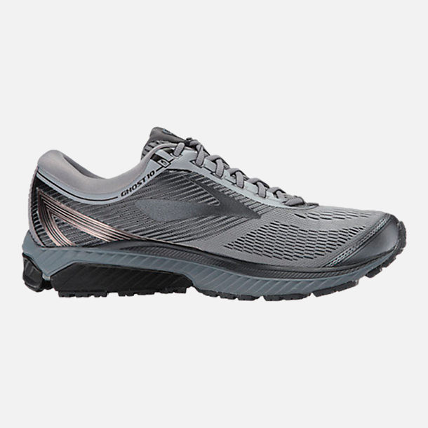 Right view of Men's Brooks Ghost 10 Running Shoes in Primer Grey/Metallic Charcoal/Ebony