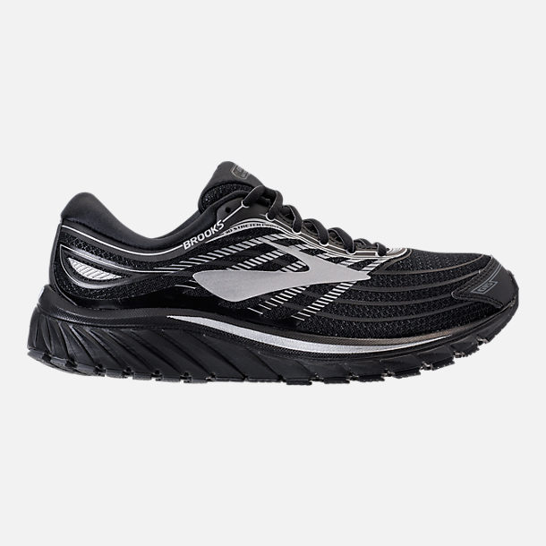 Right view of Men's Brooks Glycerin 15 Running Shoes in Black/Silver/Grey
