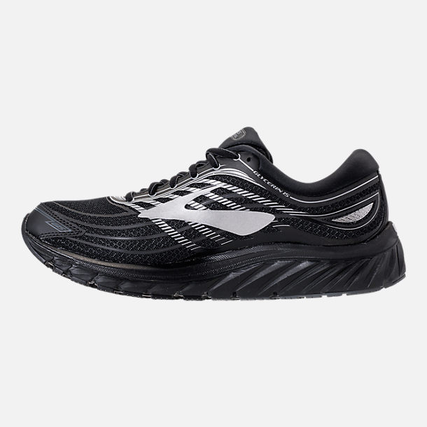 Left view of Men's Brooks Glycerin 15 Running Shoes in Black/Silver/Grey