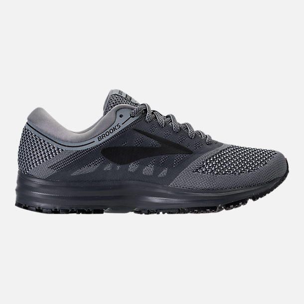 Right view of Men's Brooks Revel Running Shoes in Grey/Ebony/Black