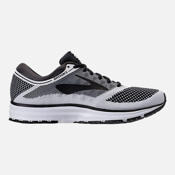 Right view of Men's Brooks Revel Running Shoes in White/Anthracite/Black