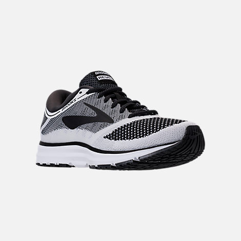 Three Quarter view of Men's Brooks Revel Running Shoes in White/Anthracite/Black