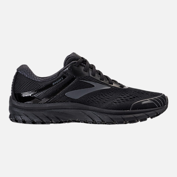 Right view of Men's Brooks Adrenaline GTS 18 Running Shoes in Black/Black
