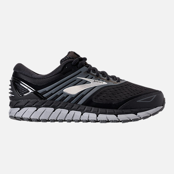 Right view of Men's Brooks Beast '18 Width Width 4E Running Shoes in Black/Grey/Silver