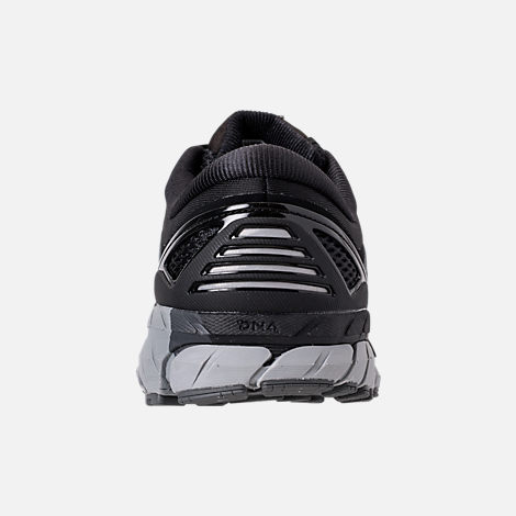Back view of Men's Brooks Beast '18 Width Width 4E Running Shoes in Black/Grey/Silver