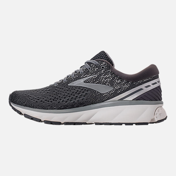 Left view of Men's Brooks Ghost 11 Running Shoes in Ebony/Grey/Silver