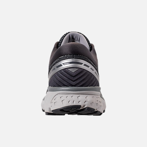 Back view of Men's Brooks Ghost 11 Running Shoes in Ebony/Grey/Silver