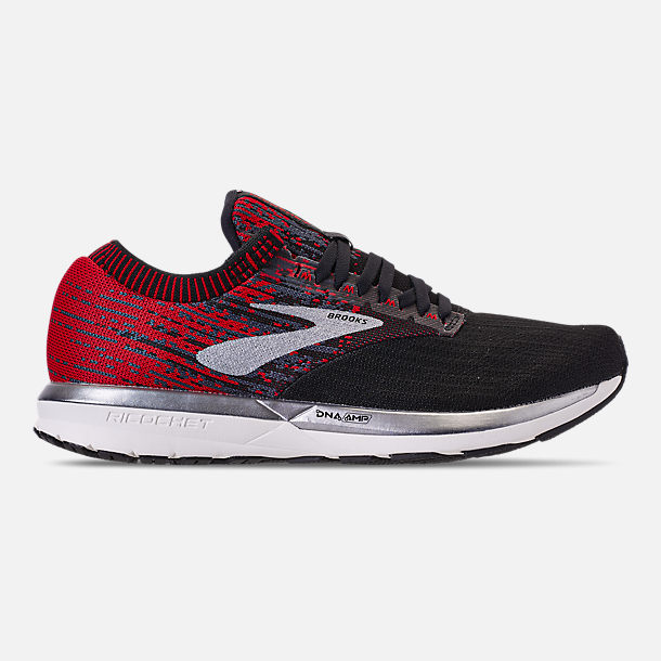 a215d559f3e74 Right view of Men s Brooks Ricochet Running Shoes in Black Ebony Red