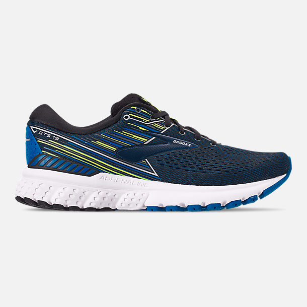 Right view of Men's Brooks Adrenaline GTS 19 Running Shoes in Black/Blue/Nightlife