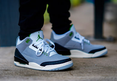 The Air Jordan Retro 3 'Chlorophyll' Pulls Inspiration From The Nike Air Trainer 1