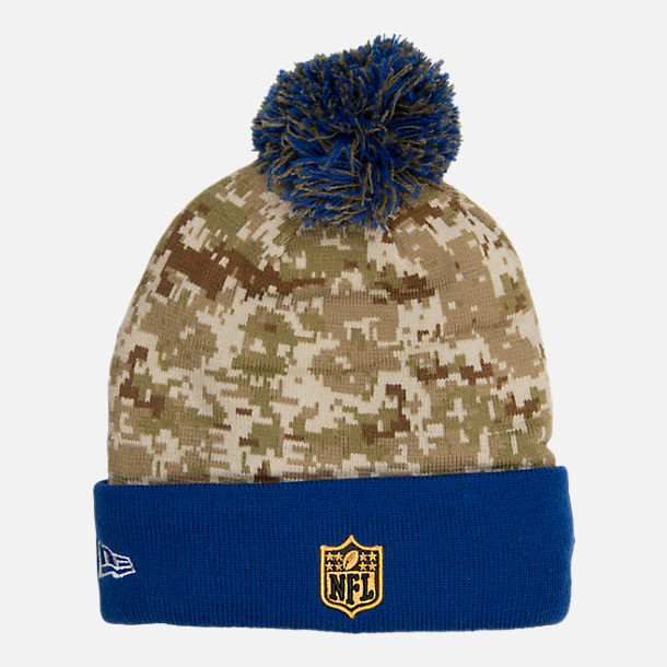 Front view of New Era New York Giants NFL Salute To Service Knit Hat 067c5a69484