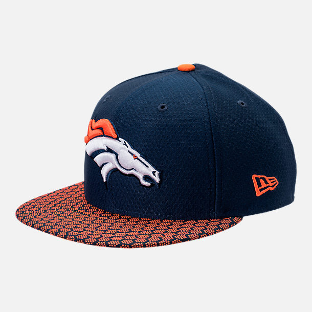 Front view of New Era Denver Broncos NFL Sideline 9FIFTY Snapback Hat in Team Colors