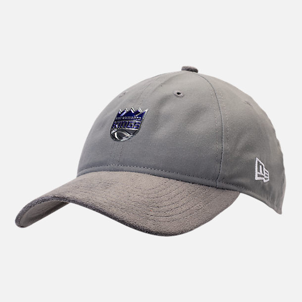 Front view of New Era Sacramento Kings NBA 2017 Draft Official On Court Collection 9TWENTY Adjustable Hat in Team Colors