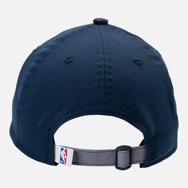 Back view of New Era Denver Nuggets NBA 2017 Draft Official On Court Collection 9TWENTY Adjustable Hat in Team Colors