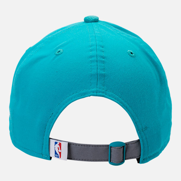 Back view of New Era Charlotte Hornets NBA 2017 Draft Official On Court Collection 9TWENTY Adjustable Hat in Team Colors
