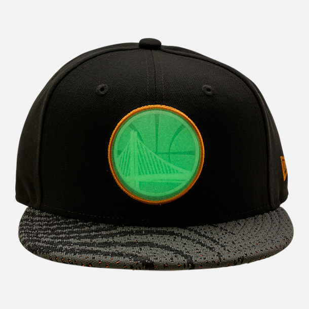 Alternate view of New Era Golden State Warriors NBA Boost Redux 9FIFTY Snapback Hat in Grey/Orange