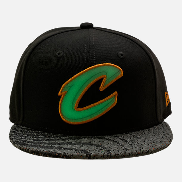 Alternate view of New Era Cleveland Cavaliers NBA Boost Redux 9FIFTY Snapback Hat in Grey/Orange