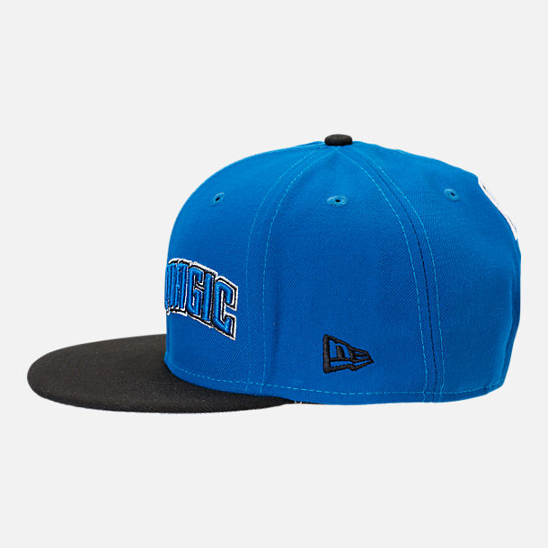 Back view of New Era Orlando Magic NBA Y2K Double Whammy 9FIFTY Snapback Hat in Team Colors